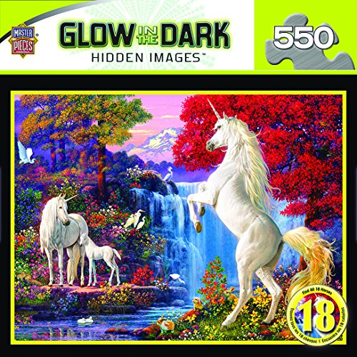 MasterPieces Dream World Hidden Image Glow Puzzle (550 Piece)