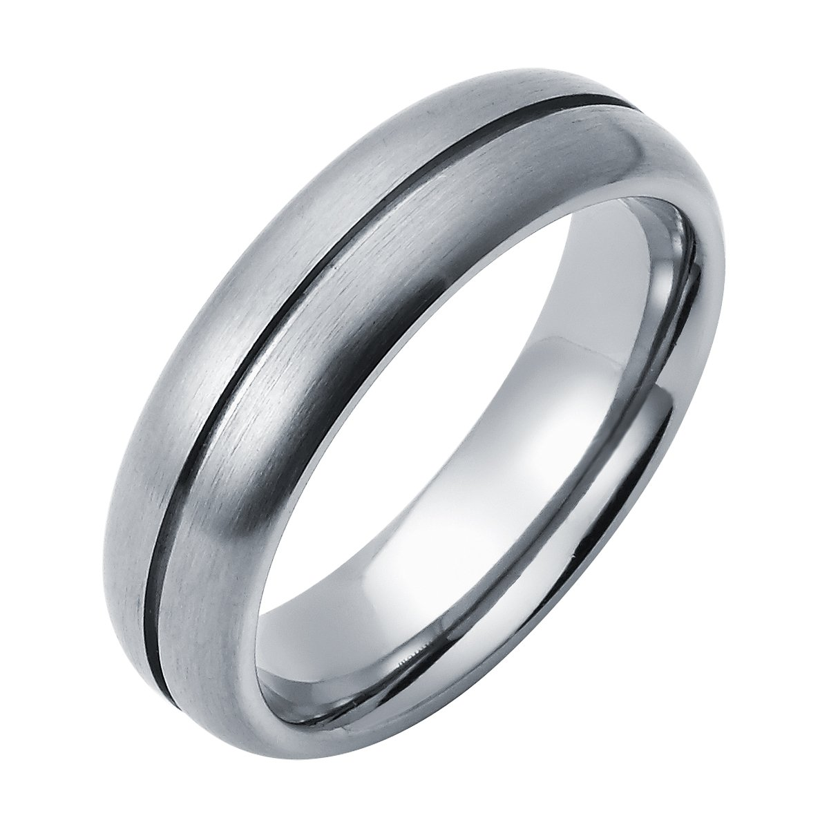 2fa8253cd18025 Boston Bay Diamonds Men's 6MM Comfort Fit Titanium Wedding Band Ring with  Center Channel Accent | Amazon.com