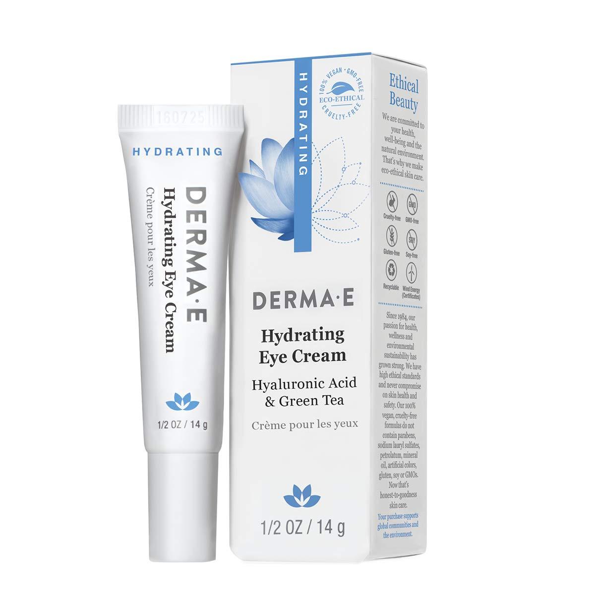 DERMA E Hydrating Eye Cream, Hyaluronic Acid, .5oz by DERMA-E