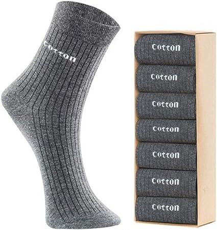 Calcetines para hombre 7 pares de calcetines de algodón Hombres Four Season transpirable casual for entrenamiento del entrenamiento de Senderismo Ruta de atletismo calcetines deportivos Liners y calce: Amazon.es: Hogar