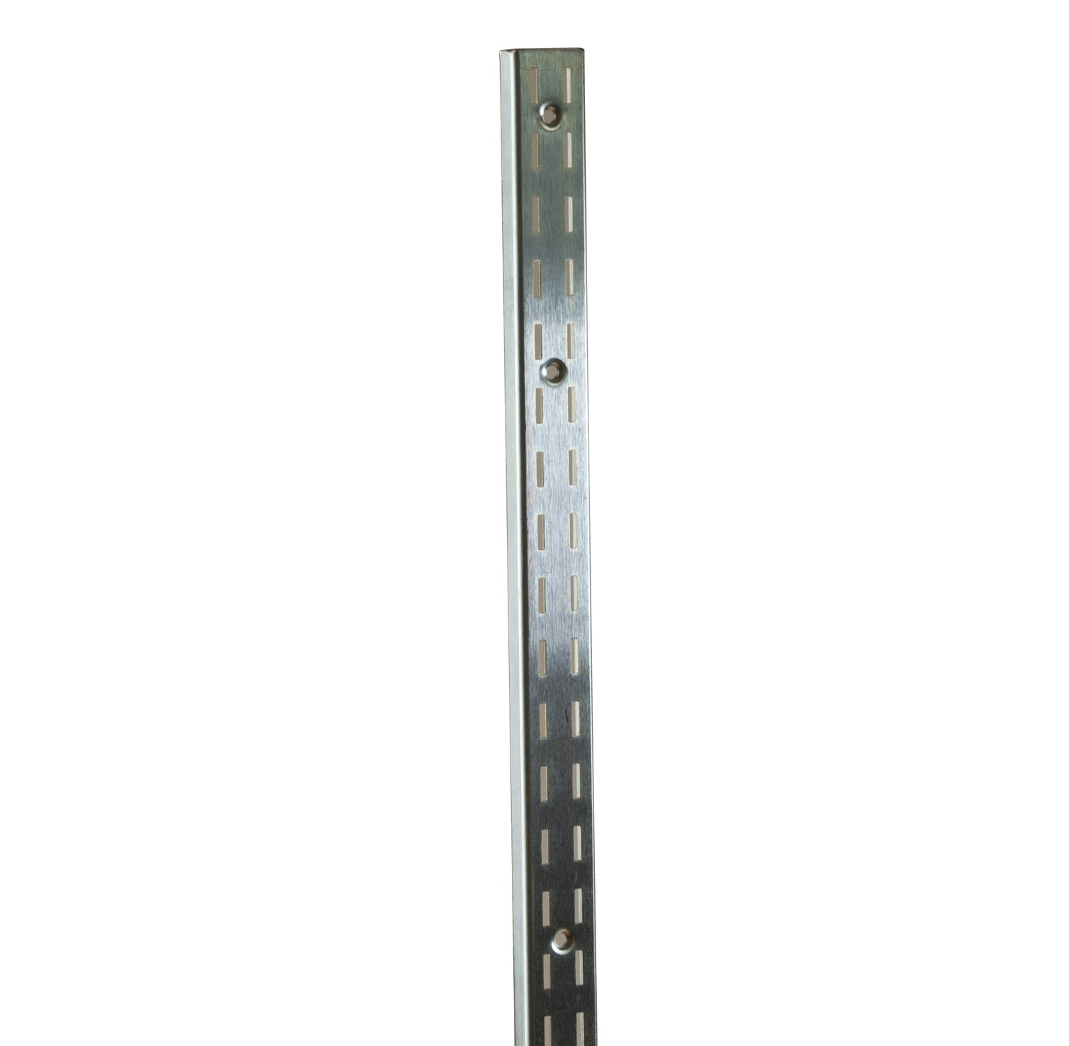 Econoco SS22/96 Heavy Weight Double Slot Standard with 1/2'' Slots on 1'' Centers, Zinc, 96'' (Pack of 10)