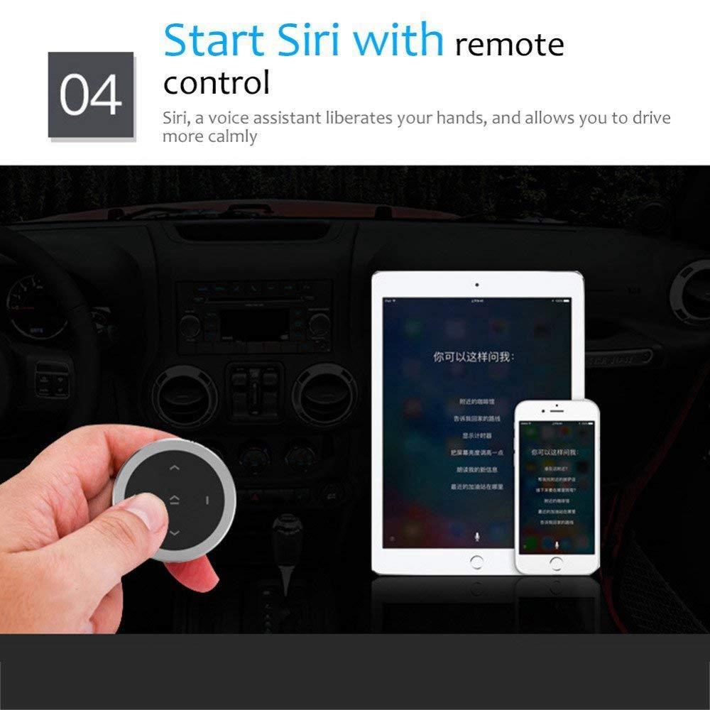 XZANTE Multim/éDia De T/éL/éPhone Portable De Voiture sans Fil R/éGulateur De T/éL/éCommande De Volant Multifonction Bluetooth Noir