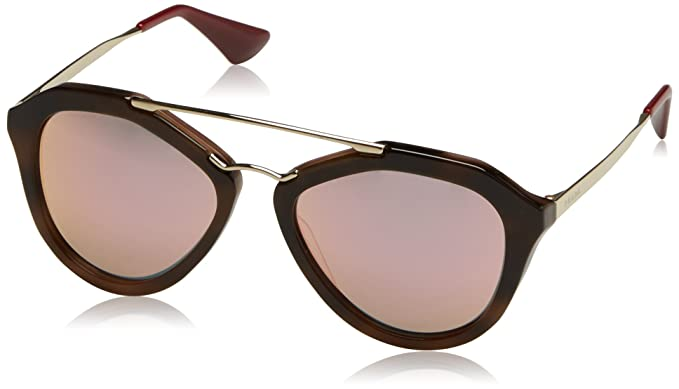 ffd92d139b Image Unavailable. Image not available for. Color  Prada Women s 0PR 12QS  Striped Brown Grey ...