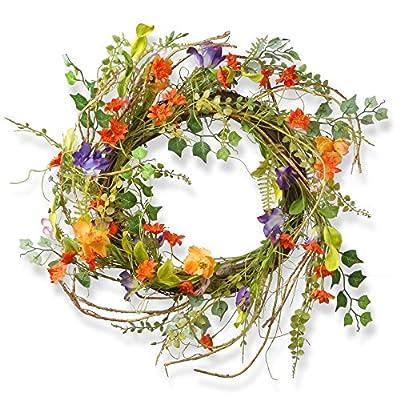 National Tree Company 22 in. Morning Glory Wreath