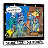 3dRose Londons Times Fish Fishing Deep Beneath Cartoons – Shark Pizza Delivery – 10×10 Wall Clock (dpp_2444_1) Review