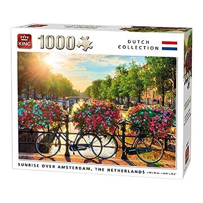 King 5721 Sunrise Over Amsterdam Puzzle Da Pezzi 68 X 49 Cm