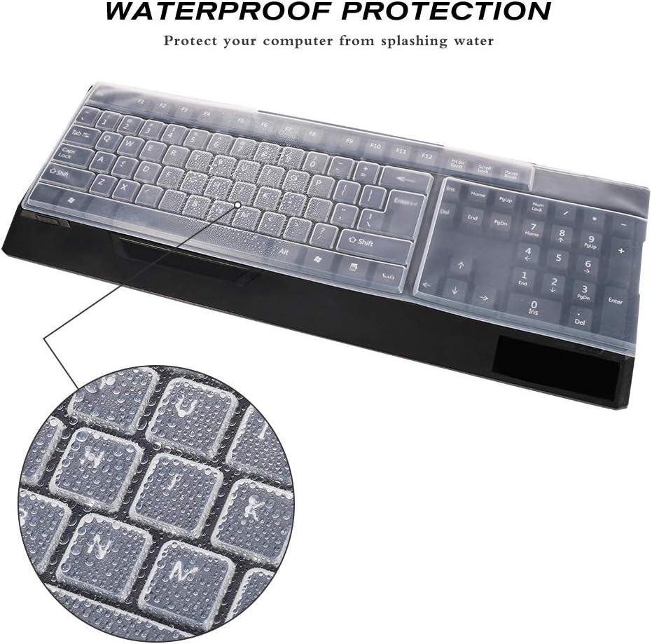 Mytobang Notebook Computer Universal Silikon Tastatur Schutzfolie f/ür Desktop Standard Tastatur Staubdicht Tastatur Schutz Leder