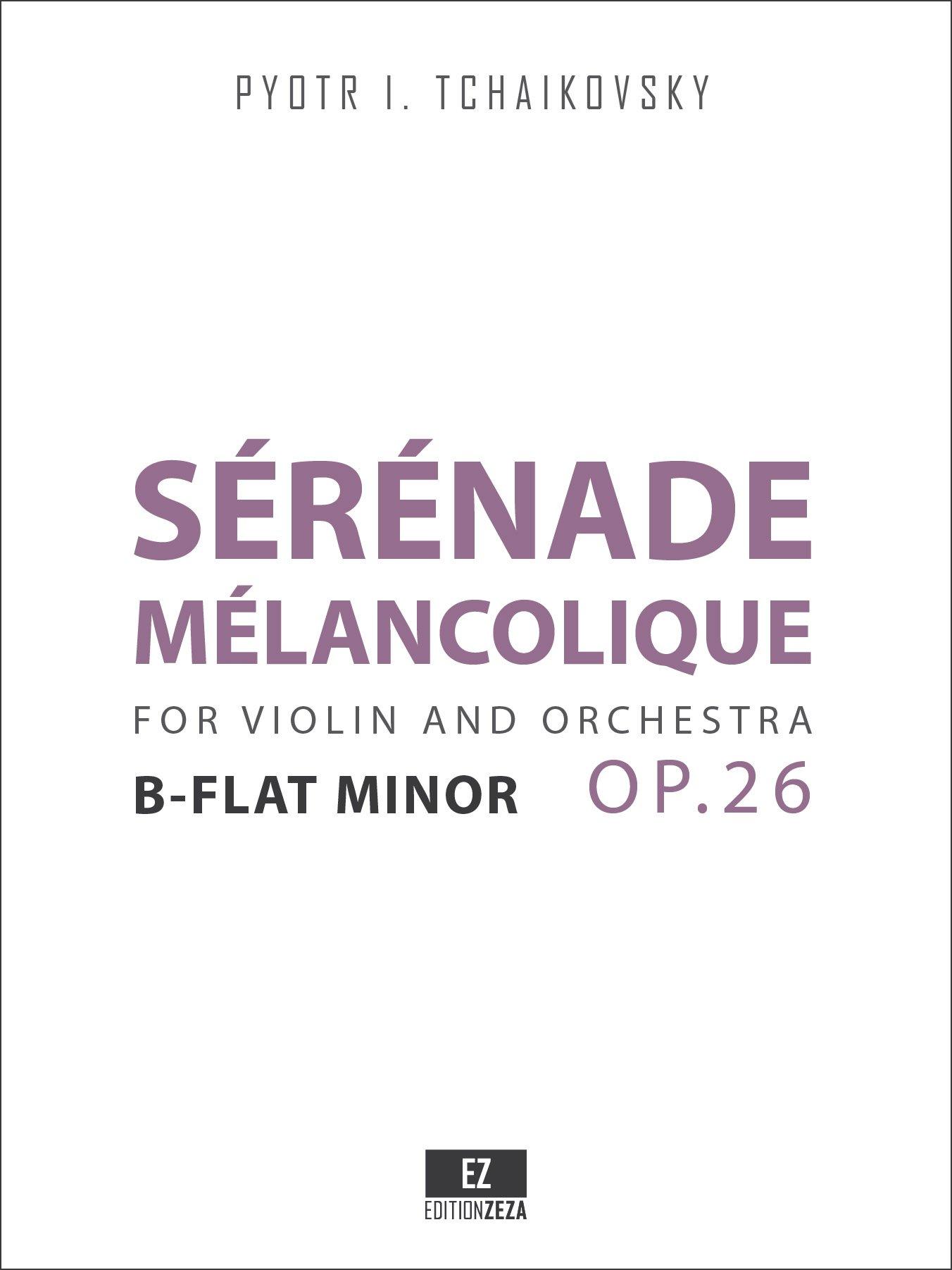 Serenade Melancolique Op.26 for Violin and Orchestra (SET OF PARTS) SKU:EZ-2041-SP ebook