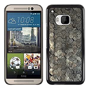 KOKO CASE / HTC One M9 / papel pintado superficie de diseño de arquitectura patrón / Delgado Negro Plástico caso cubierta Shell Armor Funda Case Cover