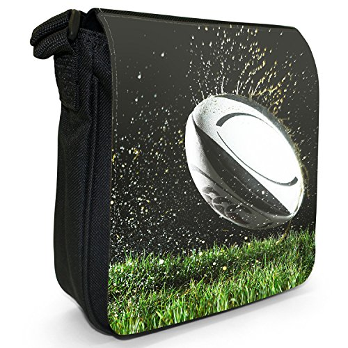 Wet Size Small Being Rugby Cup Team Ball Thrown Kit Field Bag Canvas World On Black Shoulder Xv4nP