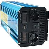 Yinleader inversor de Corriente Onda Pura 4000w Pico 8000W Transformador De 12v A 230v convertidor USB…