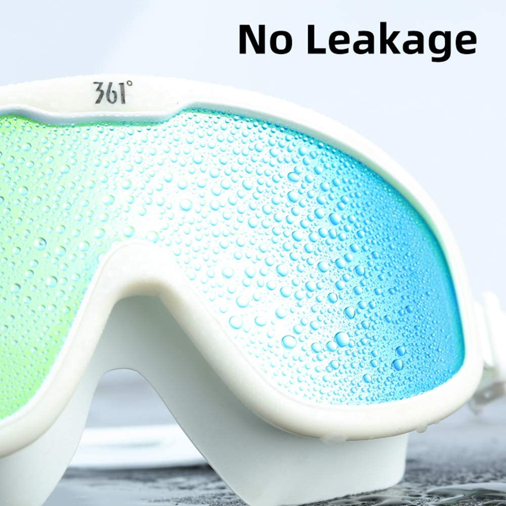 Upgraded 361 Swimming Goggles No Leaking Anti Fog UV Protection for Adult Men Women Youth Kid Wide Swim Goggles Clear Vision Anti Glare Adjustable Strap with Free Case Multi Choice