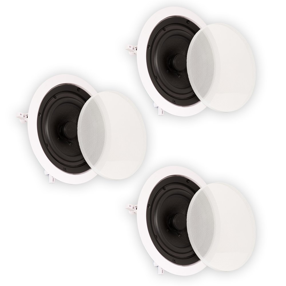 Theater Solutions TS65C In Ceiling 6.5'' Speakers Surround Sound Home Theater 3 Speaker Set