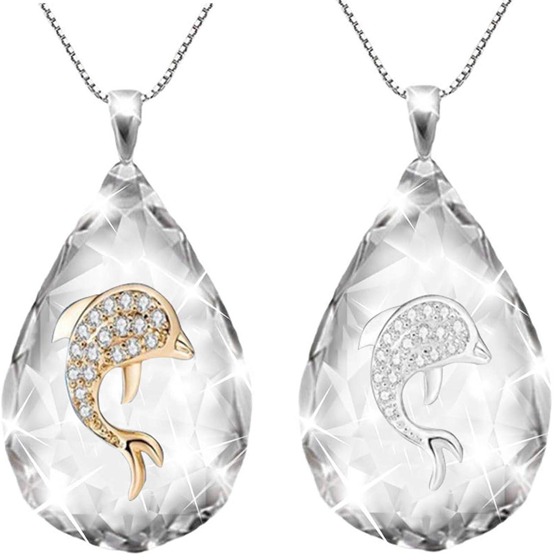Collar de árbol de vida transparente de cristal, colgante de cruz de gota de agua con elemento árbol la vida, regalo joyería piedra cristal forma lágrima hombres mujeres