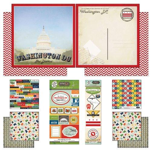 (Scrapbook Customs Themed Paper and Stickers Scrapbook Kit, Washington D.C.)