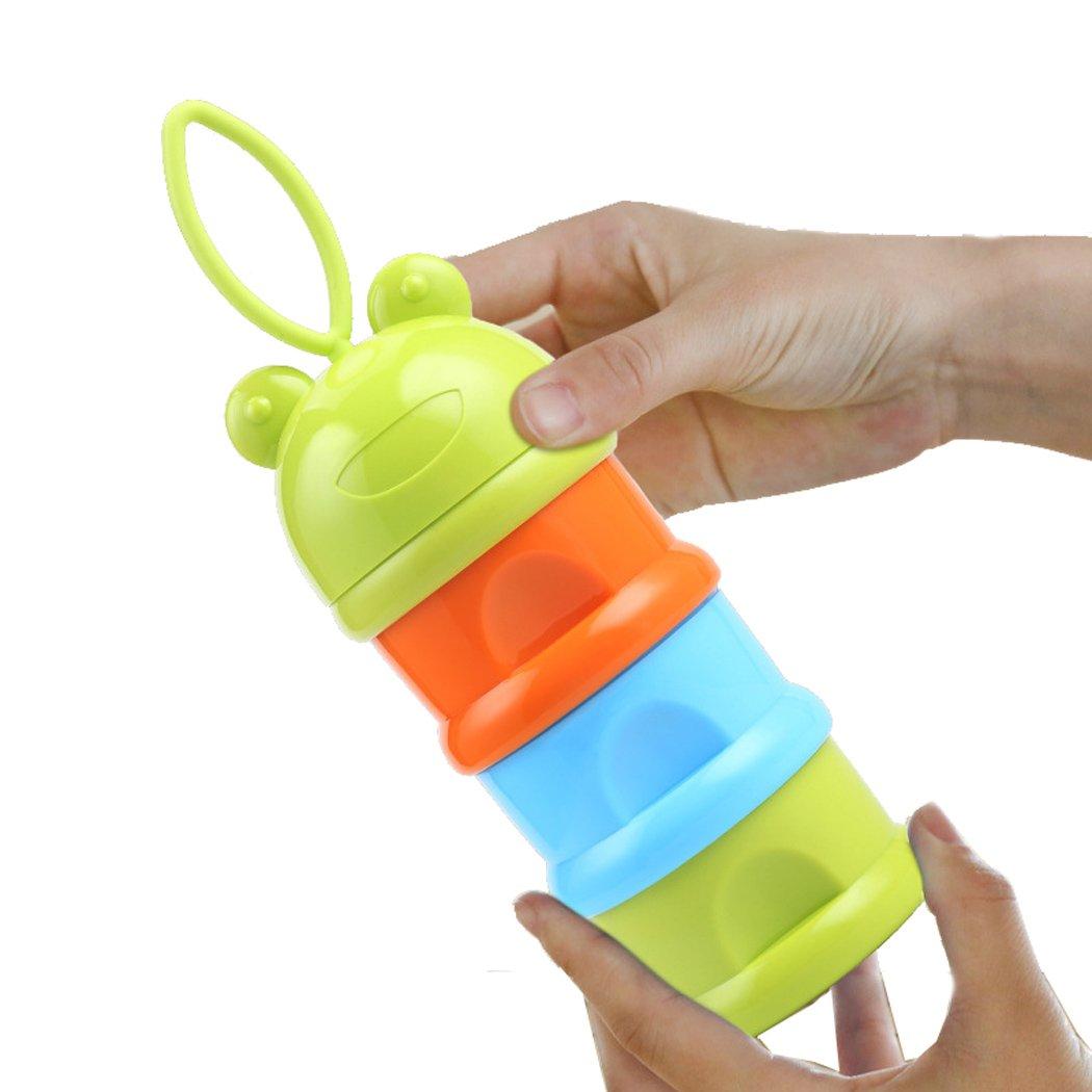 SKK Baby Milk Powder Container Dispenser Storage Travel BPA Free 3 Departments Green