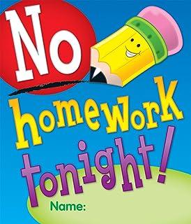 amazon com carson dellosa no homework tonight coupon 9576 toys rh amazon com Forgot Homework Clip Art Homework Pass Clip Art