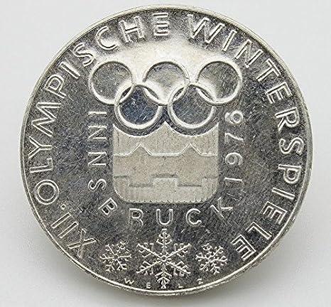 Desconocido Moneda de Plata de 100 Shillings Austria. Moneda de Edición Especial de Las Olimpiadas de Invierno en Innsbruck en 1976.: Amazon.es: Juguetes y juegos