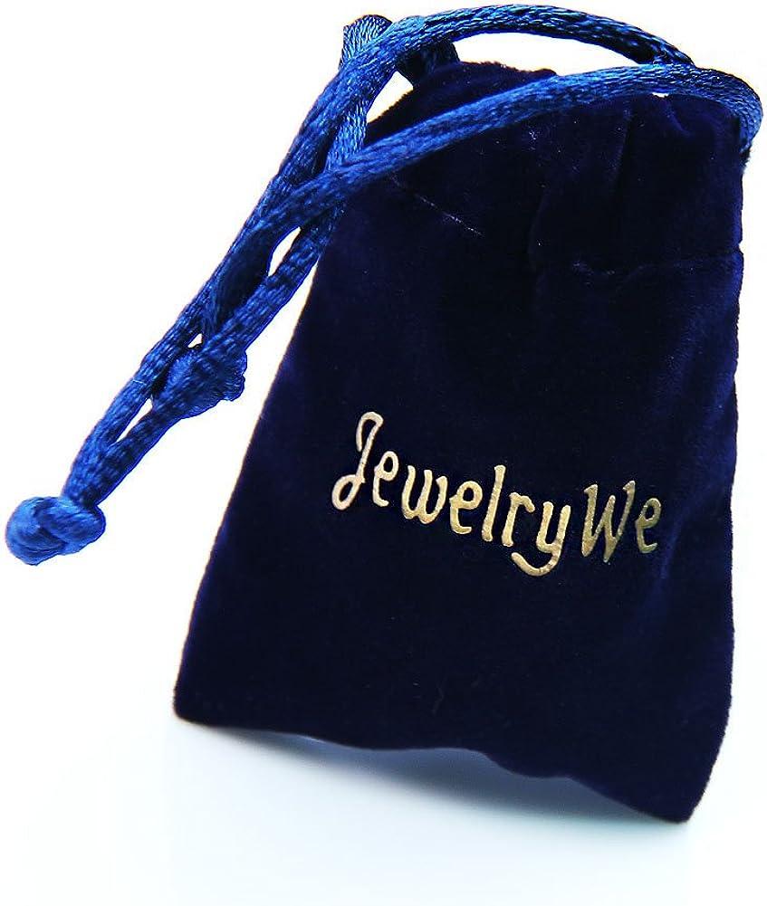 JewelryWe Bijoux Bracelet Homme Punk Rivet Manchette Enveloppez Adjustable Cuir Fantaisie Couleur Noir Marron avec Sac Cadeau