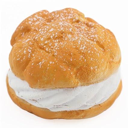 amazon com cafe de n cute big cream puff with white filling squishy