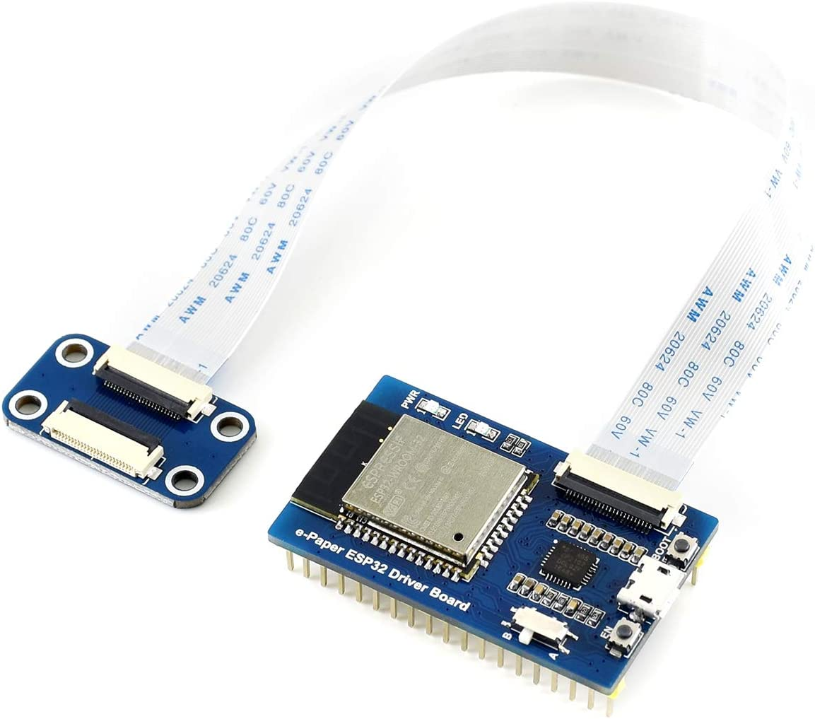 Waveshare Universal e-Paper Driver Board with WiFi//Bluetooth SoC ESP32 onboard Support Various Waveshare SPI e-Paper Raw Panels