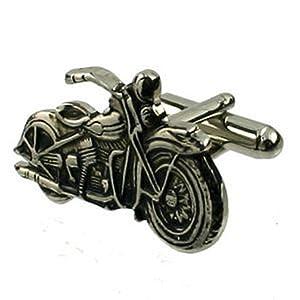 Harley Davidson Motorbike Cufflinks in Black Pouch