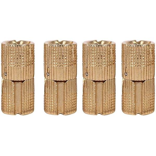 12mm Fydun Bisagra de barril 4 piezas Puerta de gabinete de cobre Bisagra de barril oculta para encimeras Proyecto de bricolaje 10//12//14//16 mm