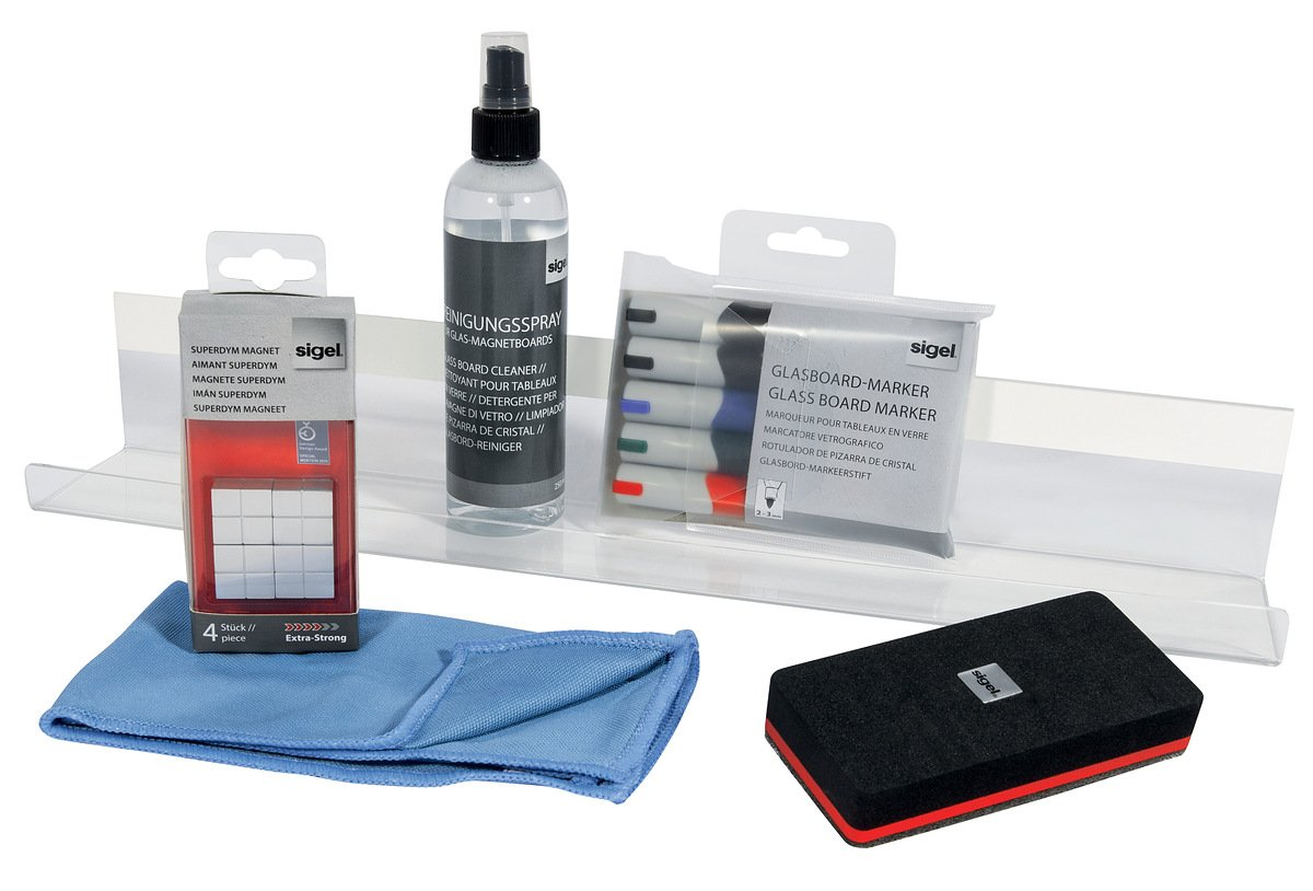 Sigel GL730 Kit de Démarrage pour Tableaux magnétique en verre