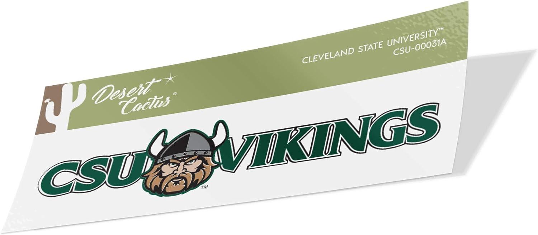 Cleveland State University CSU Vikings NCAA Sticker Vinyl Decal Laptop Water Bottle Car Scrapbook Family Full Sheet