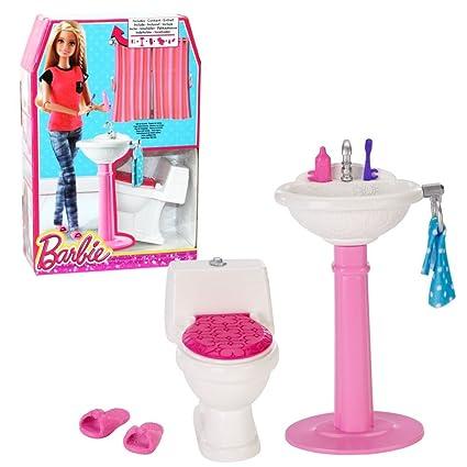 Barbie Mobili Arredamento Bagno Wc E Lavabo Con Accessori