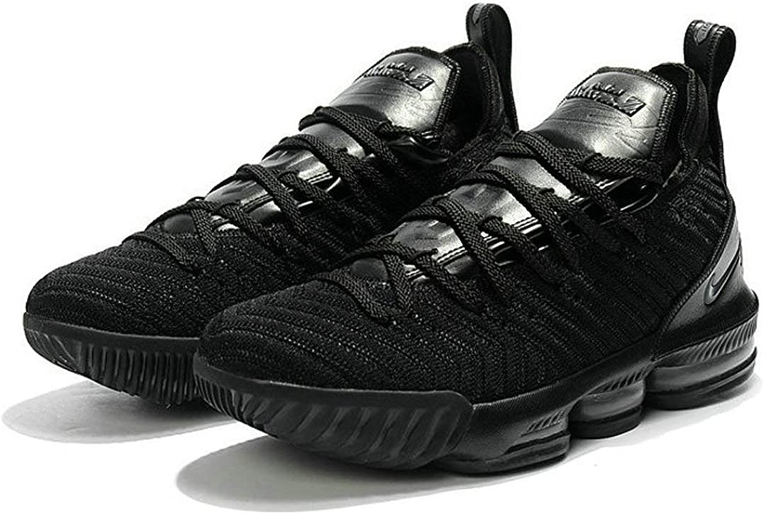 Lebron James 16 XVI Triple Black Zapatos de Baloncesto para Hombre ...