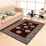 Zesture Bring Home Premium Velvet Touch Geometric Chenille Carpet - 55' x 90', Multicolour