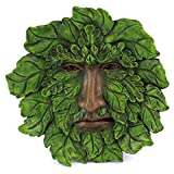 Top Collection Garden Spirit Green Man Hanging Plaque, Large