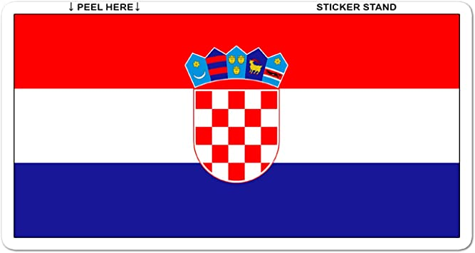 BRAND NEW BEST QUALITY CROATIA FLAG VINYL BUMPER STICKER ADHESIVE DECAL GRAPHIC