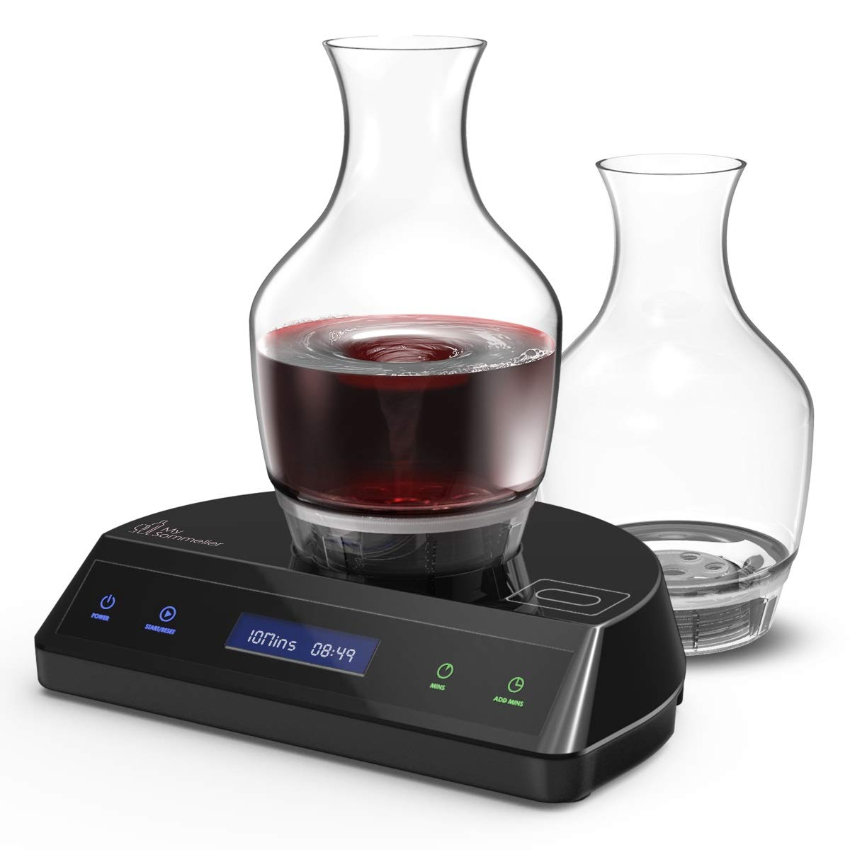 HUMBEE Chef DT-01-BKB2 Deluxe Edition Electric Wine Aerating Decanter Black