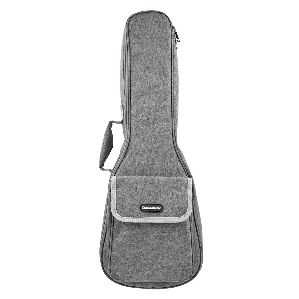 CLOUDMUSIC Hawaiian Ukulele Bag Ukulele Case With 3D Bag (Concert, Grey)