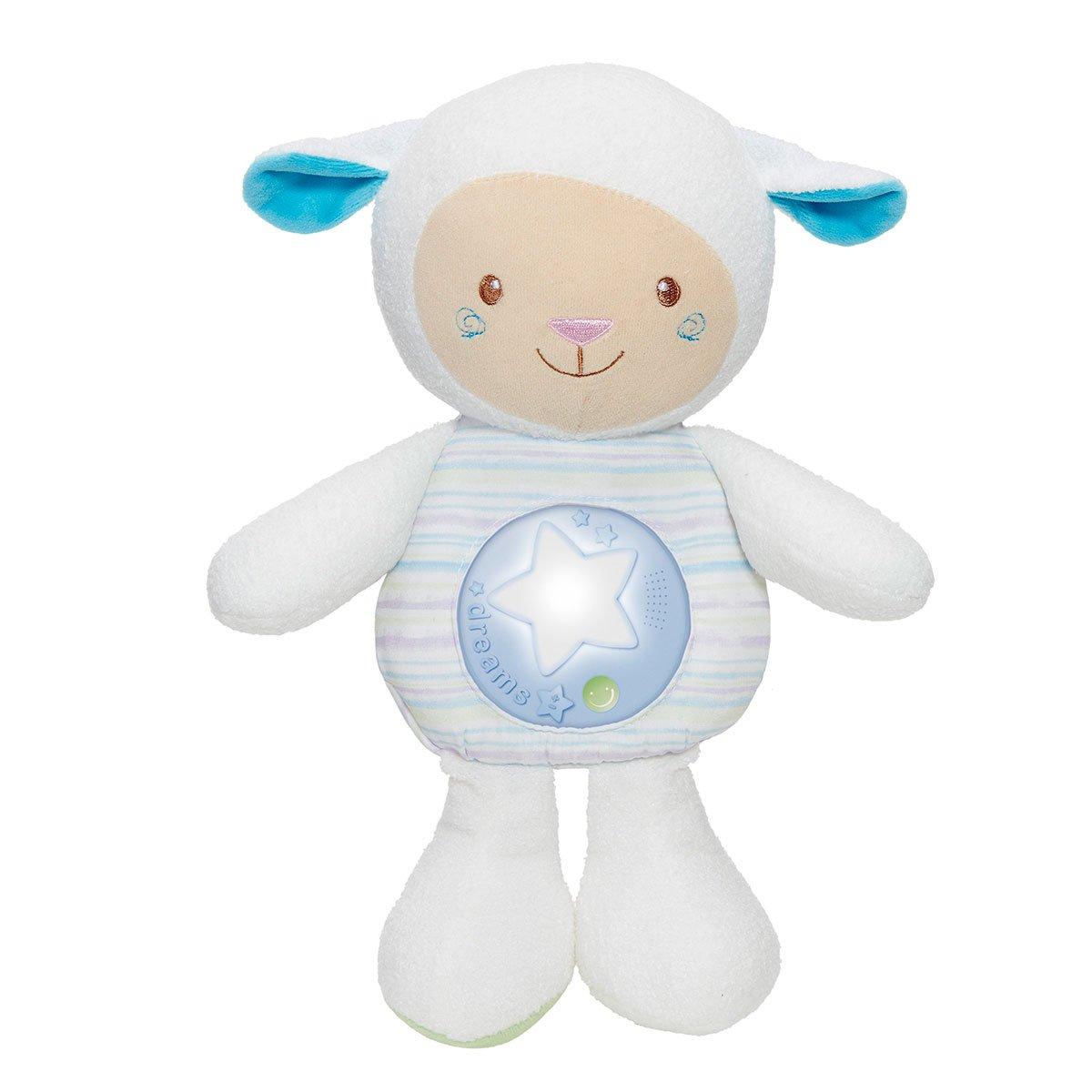 Chicco - Ovejita Dulces Nanas, suave peluche con proyector y sensor de sonido, color azul: Amazon.es: Juguetes y juegos