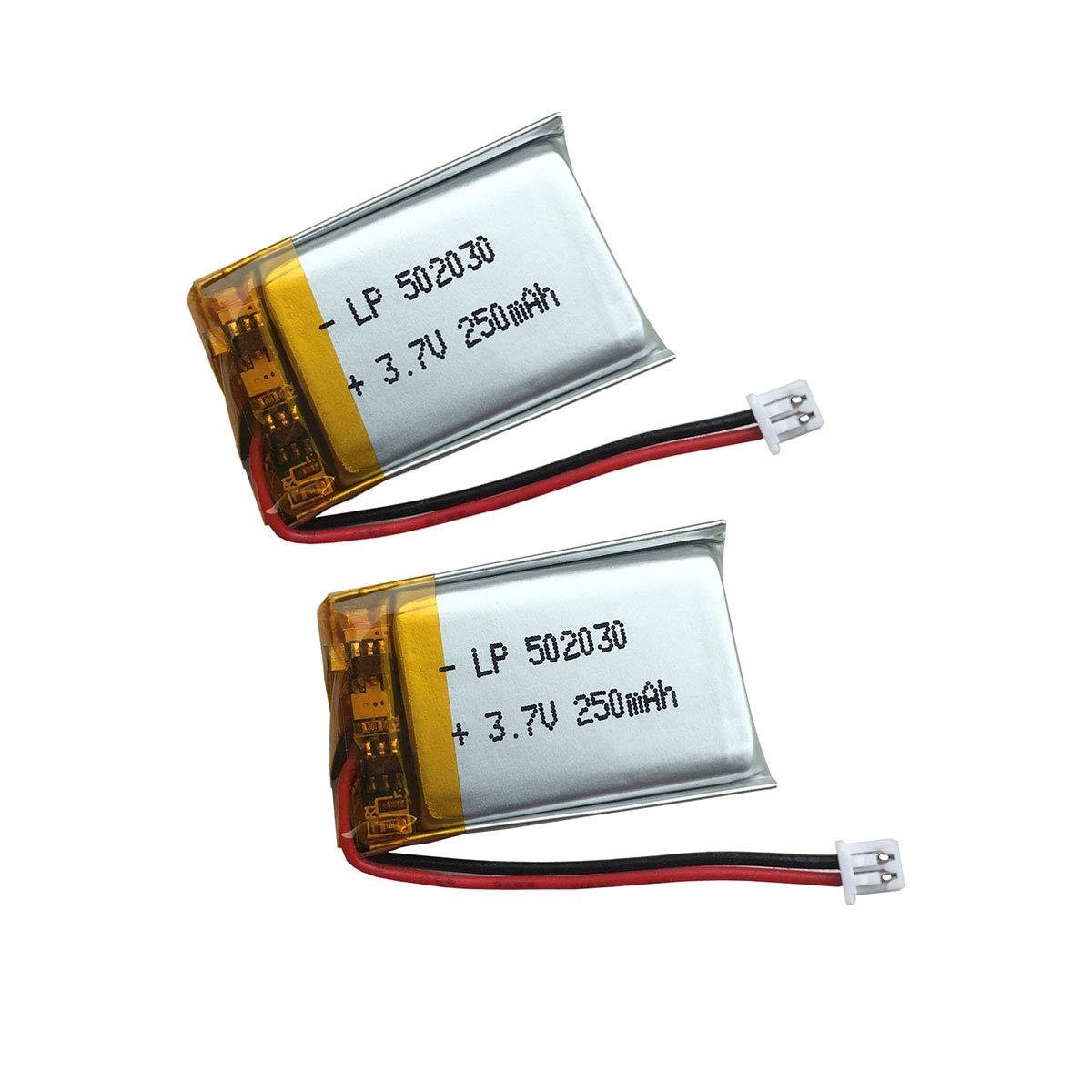 Batería 3.7V 250mAh ( 30 x 20 x 5mm, 5g) 2-Pin Pitch