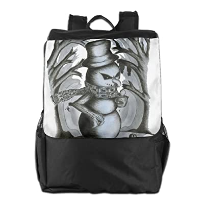 Cool Evil Snowman Unisex Casual Travelling Backpacks durable service