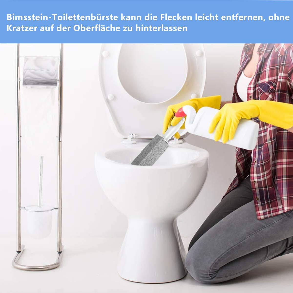 salle de bains toilettes VOARGE Lot de 2 pierres de ponce /& 1 outil de nettoyage de tuyauterie pour toilettes avec poign/ée de serpent de d/ébouchage Deep taches et Remover pour cuisine piscines spa