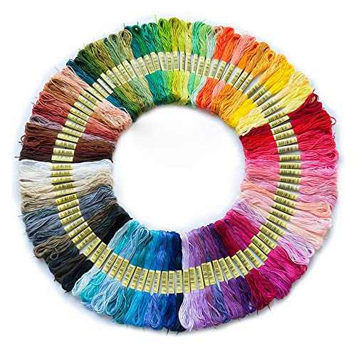 - 100pcs Cross Stitch Cotton Sewing Skeins Embroidery Thread Floss Mix Colors