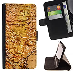 - Mesmerizing Golden Girl Drawing - Estilo PU billetera de cuero del soporte del tir???¡¯????n [solapa de cierre] Cubierta- For Samsung Galaxy S6 EDGE £š Devil Case £©