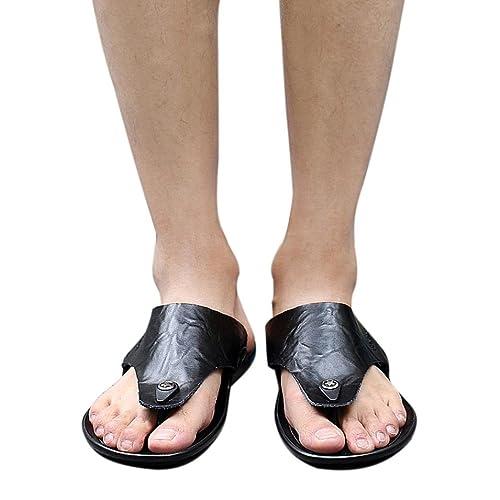 a931ce8ab5bdb Goodtrade8 Flat Summer Slide Sandals for Men