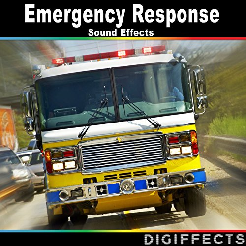 Fire Truck with Running Pump Spraying Water with Hose