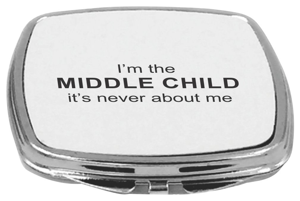 Rikki Knight Compact Mirror, Middle Child, 5 Ounce