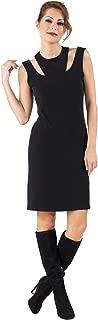 product image for Eva Varro Women's S/L Two Necklines Dress