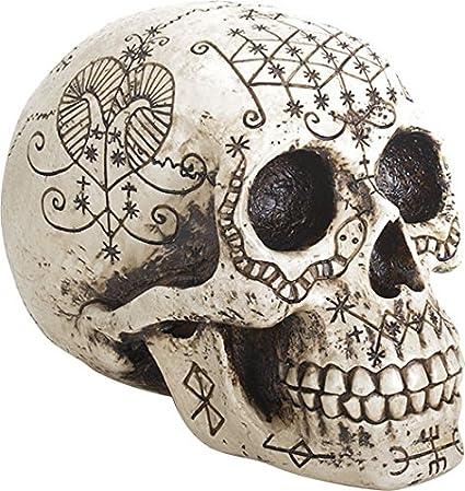 Amazoncom Ebros Ancient Voodoo Skull Symbols Tattoo