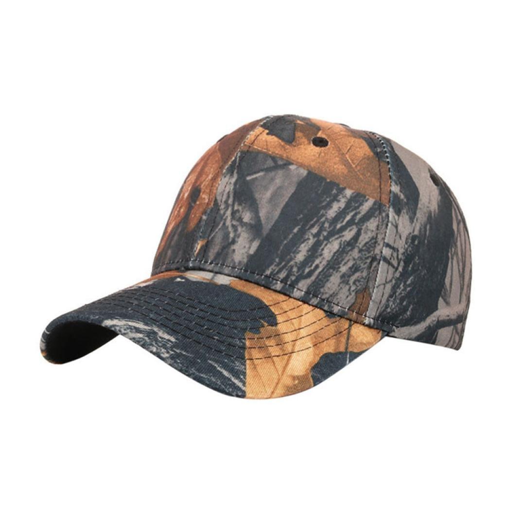 Hemlock Hats Outdoor Running Caps,Hemlock Sports Sun Cap Camouflage Fishing Hat Snapback Baseball Cap Adjustable Beach Hats (Black)