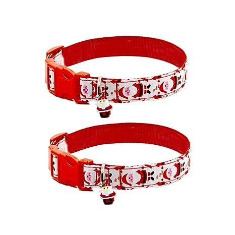 Popetpop Collare Di Babbo Natale Con Collare Regolabile 2 Pezzi Per