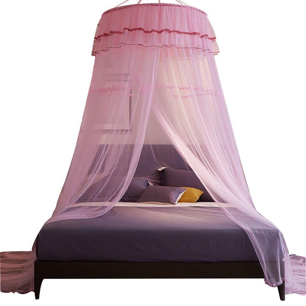 BJL Mosquito Net Moskitonetz Moskitonetz Nordic Prinzessin Haushalt 1 Tür Dome Bed Zum Aufhängen Landung Verschlüsselung Free Installation 1.0 m/1,2 m/1,8 m Home